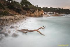 S'Alguer. (Ernest Bech) Tags: catalunya girona costabrava baixempordà mar sea tormenta strom lleventada landscape llargaexposició llums lights seascape