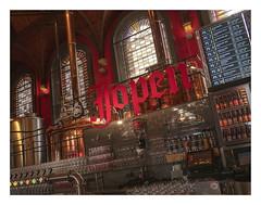 Neo-gothic church turned into a  brewery (AurelioZen) Tags: europe netherlands noordholland convertedchurch haarlem jopenkerk kerk brouwerijjopen brasserie neogothic neogotiek stainedwindows gebrandschilderderaamen brouwketels restaurant