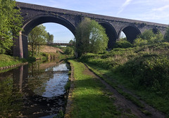 Huddersfield West Yorkshire 14th May 2019 (loose_grip_99) Tags: huddersfield west yorkshire midland railway railroad rail train bridge viaduct canal colne valley england uk disused abandoned may 2019 bradley