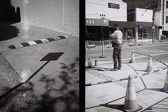 olympus pen original 1959 (grain & pixles) Tags: olympus half frame ilford xp2 noir blanc firstoftheroll lightshadow bw streetphotography negativefb filmwave shootfilm palepalmcollection minmal candidstreets