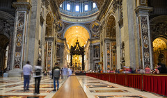 Interior of Saint Peter Basilica in Vatican (phuong.sg@gmail.com) Tags: architecture attraction baroque basilica cathedral catholic christianity decoration destinations europe european famous historical indoor inside interior italian italy landmark medieval national old ornament papal people peter pietro place religion renaissance roma roman romantic rome saint san st temple tourism tourist travel vacation vatican view worship