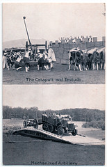 The Catapult, Testudo and Mechanised Artillery (pepandtim) Tags: postcard old early nostalgia nostalgic aldershot searchlight military tattoo 1894 1920s 1930s rushmore arena army show 2010 2012 garrison 2013 bombing 1972 ira catapult testudo mechanized mechanised artillery siege 26tct43