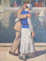 Groupe des amoureux (1932), Henri Martin - Musée des Années 30, Boulogne-Billancourt (92) (karadogansabri) Tags: peinture tableau henrimartin amoureux boulognebillancourt 92 hautsdeseine architecture
