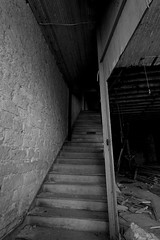 North Texas trip (31) (momentspause) Tags: abandoned abandonedbuilding texas northtexas blackandwhite bw blackandwhitephotography canon5dmkiii canonef1740mmf4l staircase spooky shadows