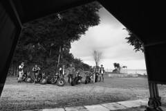 Hardheads (JamCanSing) Tags: hardheads motorcycles film pentax pentax67 p67 6x7 blackandwhite bnw handlebar harleydavidson club singapore