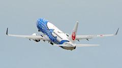 Boeing 737-8Q3, JA05RK, Japan Transocean Air (Jinbei Jet Livery) (tkosada.mac) Tags: japantransoceanair oneworld boeing b738 tokyointernationalairport hanedaairport hnd rjtt