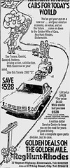 Dec1976No4 (mat78au) Tags: december 1976 melbourne newspaper extracts holden torana s 1900 dec 76 melb reg huntrhodes ghm dealership