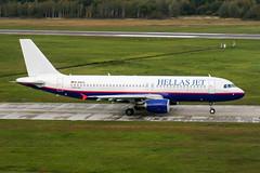 D-AXLC (PlanePixNase) Tags: aircraft airport planespotting haj eddv hannover langenhagen hellasjet hellas airbus 320 a320