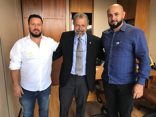 Presidente PSB Planaltina (Fábio Lopes - esq) e Vereador de Planaltina (Raimundo Goods - dir)