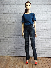 Amber in Motorcycle Jeans (Levitation_inc.) Tags: ooak doll dolls handmade clothes levitation levitationfashion photography fashion royalty integrity toys nuface casual jeans motorcycle