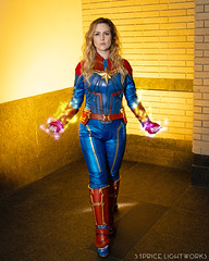 Captain Marvel (S1Price Lightworks) Tags: captain marvel cosplay girl costume comiccon awesomecon cosplayer comics gels canon eos r 35mm
