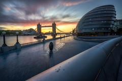 Early Morning Motion (martin.matte) Tags: cityscape city london greatbritain cityhall towerbridge sky longexposure urban modern architecture morning sunrise thames river