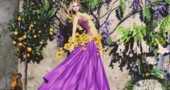 Surrounded By Blossoms (Ƈнєуєηηє Sαɗєє (MISS SL ♛ Canada)) Tags: tiffanydesigns maitreya catwa secondlife sl slfashion fashion outdoors flowers runway models