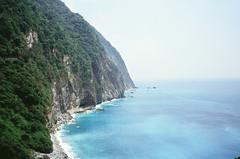 Qingshui cliff (hhnguyen88) Tags: filmphotography fujichromevelvia100 velvia100 xincheng taiwan tarokogorge qingshui cliff