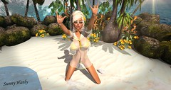 Sunning :) (sunny.hanly) Tags: secondlife sl virtualworld game fashion originals art outfit clothes dress gem gems hair long blond aviglam choker maitreya lara photography peace avatar digitalart digitalphotography mesh bento laq gaia sunnysstudio