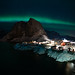 Hamnoy Beneath the Northern Lights