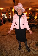 Hoping To Accepted As A Mom On Mother's Day, 2019 (Laurette Victoria) Tags: hat pink suit woman laurette milwaukee hotel lobby pfisterhotel