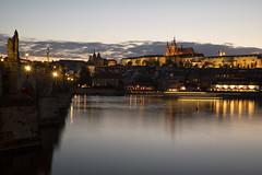 PRAGA (Gusulabu) Tags: prague praga bridge exposition castle sunset river canon 5dmarkiv charles v charlesv carlosv