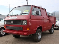 F66 RPU (2) (Nivek.Old.Gold) Tags: 1989 volkswagen transporter 112ps syncro doublecab pickup 2109cc t3 aca