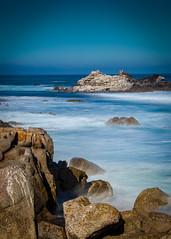 Rocks in the Mist No. (CDay DaytimeStudios w /1 Million views) Tags: ca pebblebeach water 17miledrive pacificcoasthighway bluesky california highway1 montereyca pacificgrove carmelca ocean pacificcoast beach sky seascape coastline landscape rocks montereybay