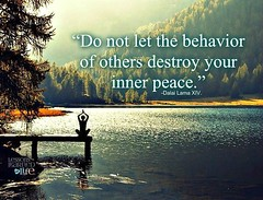 Do not let the behavior of others destroy your inner peace (quotesoftheday) Tags: do let behavior others destroy your inner peace delivered by feed43 service