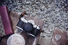 Saori-san's AE-1 (Eric Flexyourhead) Tags: langley fortlangley canada britishcolumbia bc republica republicacoffeeroasters camera analogue film filmcamera retro old classic vintage japanese canon ae1 canonae1 35mm slr 35mmfilmcamera shallowdepthoffield sonyalphaa7 zeisssonnartfe55mmf18za zeiss 55mmf18
