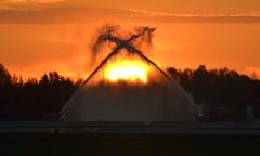Sunrise, OSL ENGM Gardermoen (Inger Bjørndal Foss) Tags: sunrise water osl engm gardermoen