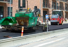 I like the smell of a new made road ! Lunchbreak on what has been one of Copenhagen´s most uneven roads (sms88aec) Tags: