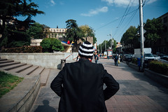 Knitted Hat (ewitsoe) Tags: 20mm city europe ewitsoe georigia nikond750 street tibilisi travel erikwitsoe erikwitsoecom urban man hat warm hot knitted rearview streetscene odd
