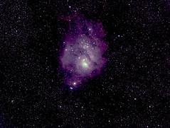 M8 Lagoon nebula Sagittarius (robbiehildred) Tags: 60secs m8 lagoon 280mm unguided bathurst nsw