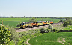 C-C-C-Colas Convoy. (Neil Harvey 156) Tags: railway 70814 56113 56090 burn selby eastcoastmainline ecml class70 class56 colasrail colas grid lococonvoy