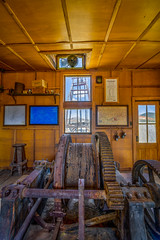 Mine Hoist House (Jeff Sullivan (www.JeffSullivanPhotography.com)) Tags: small hoist house historic mining ghost town photography workshop esmeralda county nevada usa abandoned rural decay nikon d850 photos copyright jeff sullivan may 2019 hdr photomatix