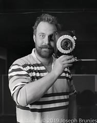 Ethan Moses with his Cameradactyl (Joseph Brunjes) Tags: 11x14 2019 brunjes fpp hp5 ilford joseph commercialektar portrait chamonix film largeformat blackandwhite ulf