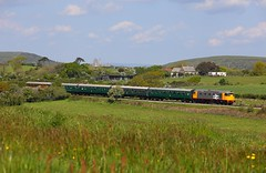 26007 Harmans Cross (2) (Robert Sherwood) Tags: 26007 approaches harmans cross hauling 1032 river frome swanage sunday 12th may 2019