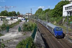 B6Dux (Marc_135) Tags: b6dux corail bleu bb22200r vert soleil rail train terfranchecomté ter895851 grue gare lyonbelfort besançon