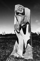 La vallée des Saints (Vostok 911) Tags: vostok911 canon sigma1850 eos40d lavalléedessaints sculpture nb noiretblanc nature bw blackandwhite bretagne monochrome enora inèsferreira