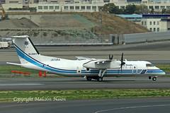 DHC-8 JA725A JAPAN COAST GUARD (shanairpic) Tags: propliner dhc8 dash8 tokyo haneda japancoastguard ja725a