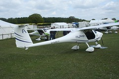 G-OATY (IndiaEcho) Tags: pipistrel alpha trainer goaty eghp popham airport airfield light general civil aircraft aeroplane aviation basingstoke hampshire england canon eos 1000d microlight fly in 2019