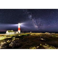 Portland Bill Milky Way (Chris Jones www.chrisjonesphotographer.uk) Tags: astro constellation nikon sky dark darkness nighttime night core stars seascape sea photographer jones chris uk england west south dorset lighthouse bill portland astrophotography way milky