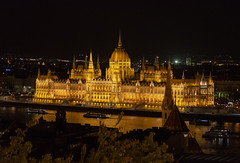 Parliament Building at Night (rschnaible) Tags: budapest hungary europe night photography long exposure building architecture parliament danube river