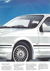 1986 Ford Sierra RS Cosworth (Hugo-90) Tags: 1986 ford sierra rs cosworth ads advertising brochure folder