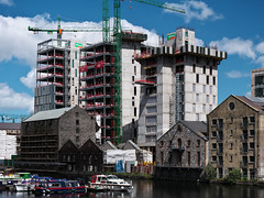 Bolands Quay Development from Grand Canal Dock Station (turgidson) Tags: panasonic lumix dmc g9 panasoniclumixdmcg9 panasonicg9 micro four thirds microfourthirds m43 g lumixg mirrorless hes12060 leica dg varioelmarit 1260mm f284 asph panasonicleicadgvarioelmarit1260mmf284asph zoom silkypix developer studio pro 9 silkypixdeveloperstudiopro9 raw dublin ireland bolands mill bolandsmill quay redevelopment burke kennedy doyle burkekennedydoyle bkd architects bam contractors p1000345 grand canal dock grandcanaldock station