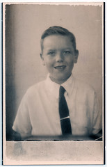 Portrait of Boy (pepandtim) Tags: postcard old early nostalgia nostalgic portrait boy 1954 33prt99