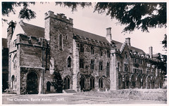Battle Abbey - The Cloisters (pepandtim) Tags: postcard old early nostalgia nostalgic norman series shoesmith etheridge hastings glossy photograph benedictine sussex 89bac42