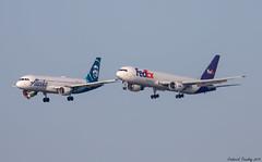 Alaska Airlines / Airbus A320-214 / N624VA / FedEx / Boeing 767-3S2F(ER) / N126FE / SFO (tremblayfrederick98) Tags: fedex alaska airlines boeing boeing767 b767 a320 airbus sfo
