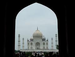 Approaching the Taj Mahal