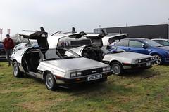 DeLorean DMC-12 HTU253X and SKM224W (Andrew 2.8i) Tags: haynes museum sparkford classic car cars classics breakfast meet show american briitsh sports sportscar v6 coupe 12 dmc dmc12 delorean lorean de