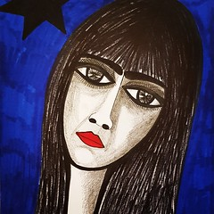 Original modern drawings by Israeli woman artist (female art work) Tags: illustrated combination colors israel israeli image images view vision canvas acrylic ink paper layering woman women artist art artistic painter painters draw drawings colour abstract modern contemporary