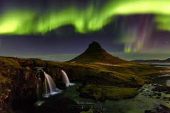 Northern dances (marcolemos71) Tags: landscape kirkjufell waterfalls northernlights iceland nightshot aurorasboreales longexposure marcolemos
