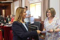 Amelia Salanueva Murguialdi, senadora electa del Partido Popular por Navarra, entrega su credencial en el Senado